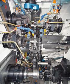 multi spindle bar machines